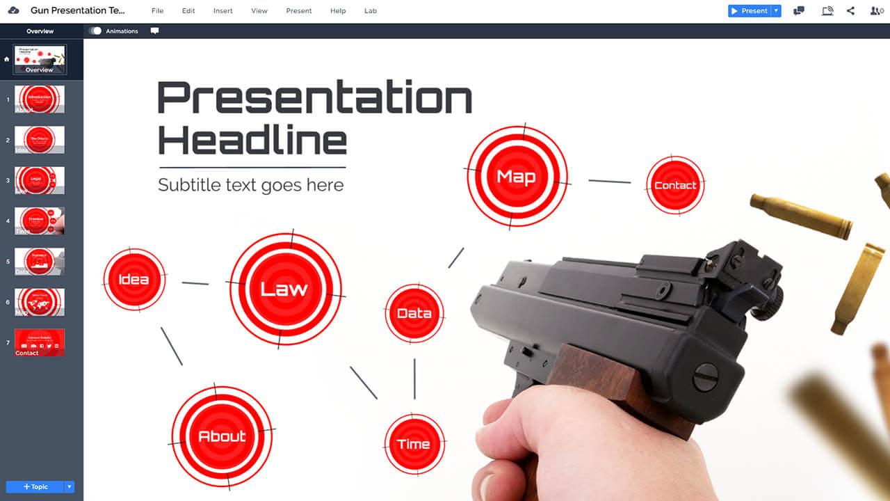 стрельба-пушечного контрольно-Prezi-Prezi-презентация-шаблон