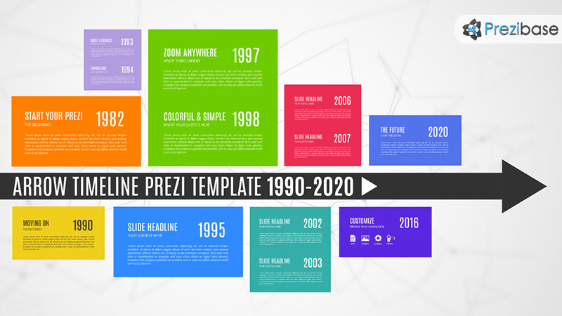 arrow timeline prezi presentation template