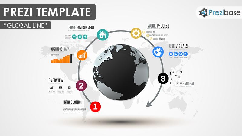 global line – prezi presentation template     creatoz collection, Global Presentation Template, Presentation templates