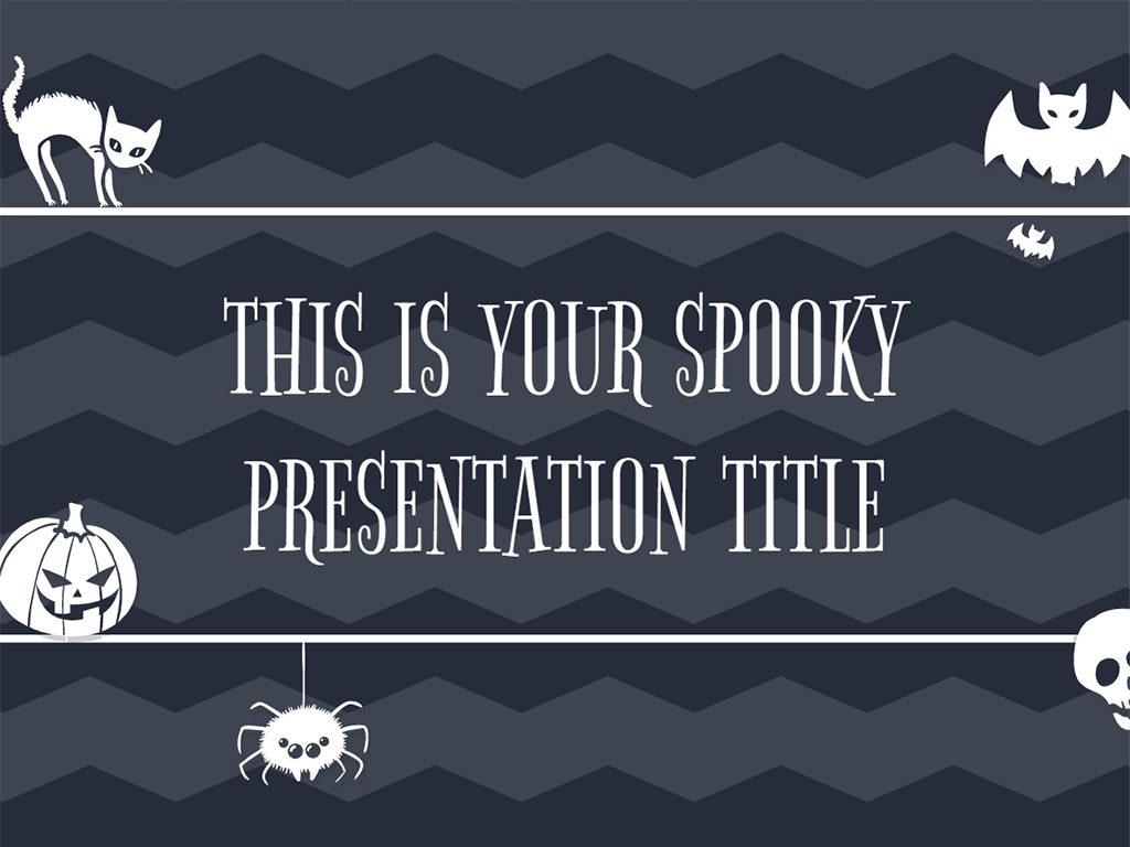 Free presentation template fand Halloween: with tons of scary ...