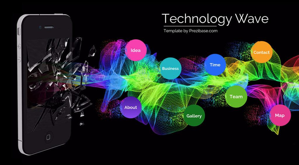 Technology Wave – Prezi Next Presentation Template | | Creatoz ...