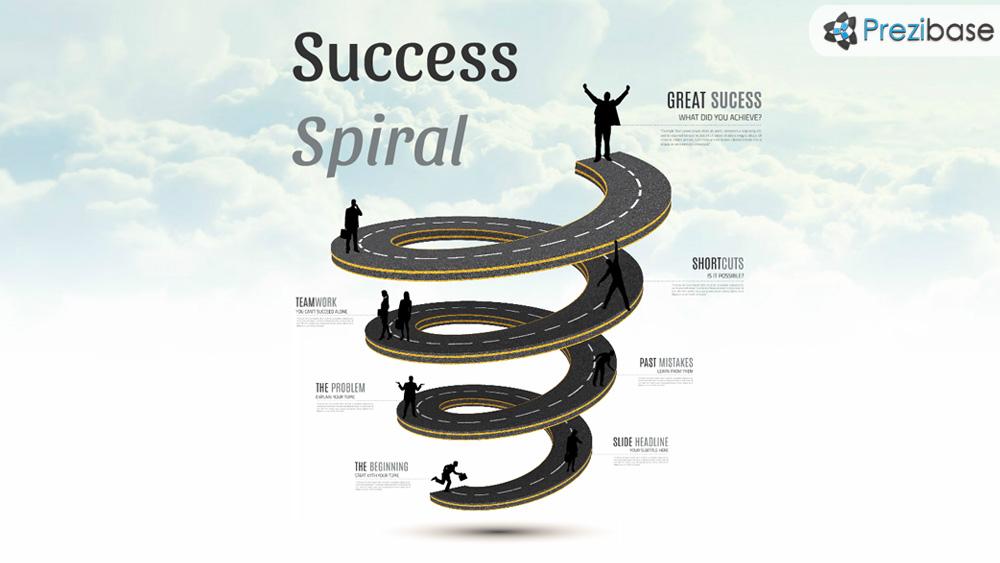 success spiral prezi presentation template creatoz collection