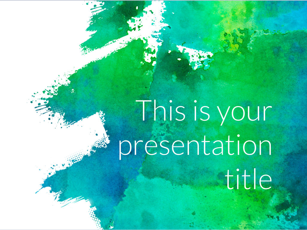 Free Art Powerpoint Template And Google Slides Theme Creatoz - Google slides theme templates
