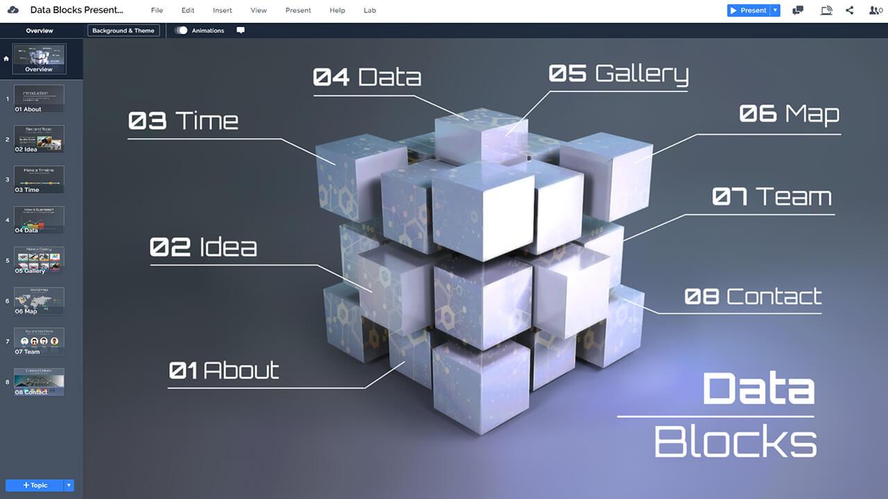 data-blocks-3d-cubes-dark-infographic-technology-prezi-next-presentation-template