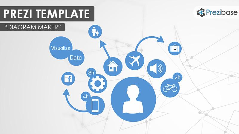 Diagram Maker Prezi Presentation Template Creatoz Collection