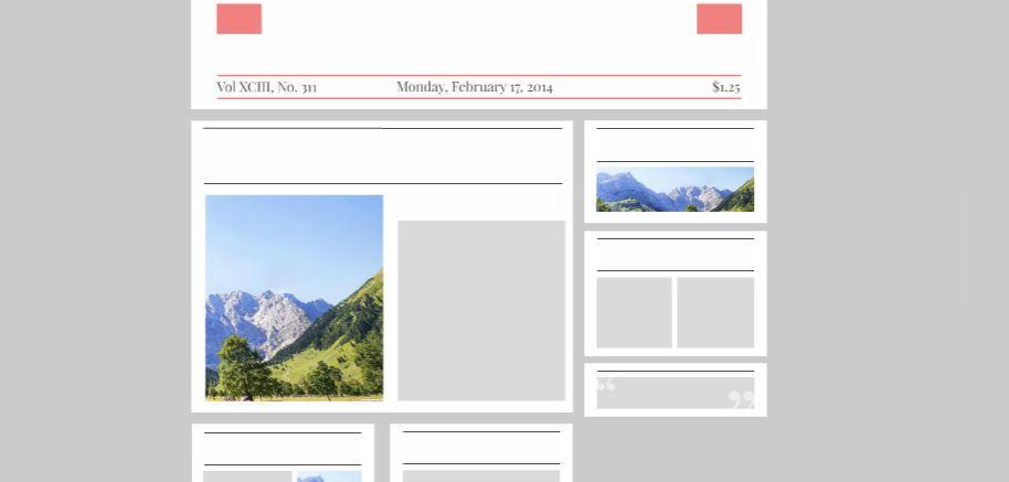 Newspaper Headline Template | Newspaper Headline Free Prezi Presentation Template Creatoz