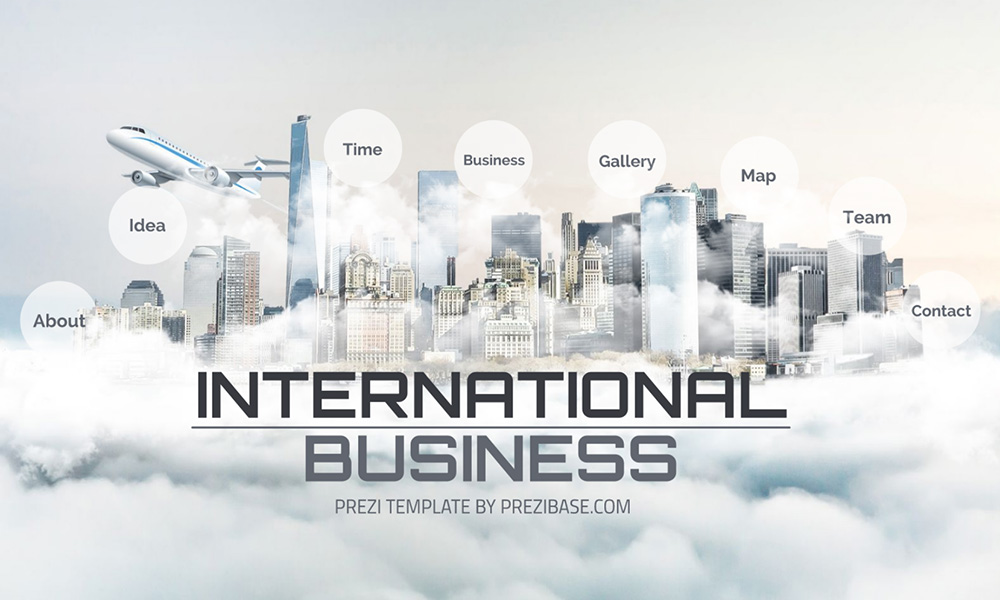 International business prezi next presentation template for Prezi template library