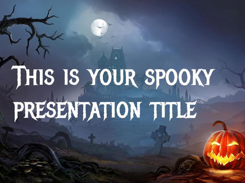 Free Google Slides and Powerpoint template fand Halloween: dark and ...