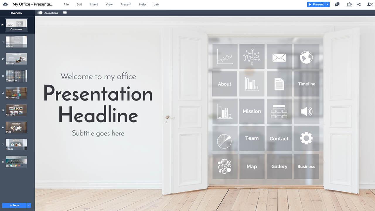 бизнес-офис-компания-введение-Prezi-презентация-шаблон