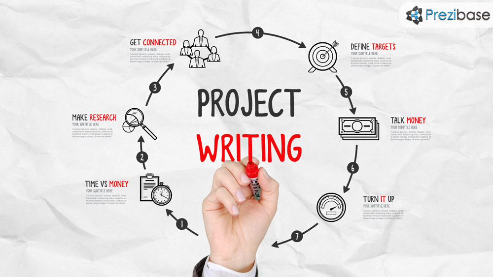 Project Writing  Prezi Presentation Template   Creatoz Collection