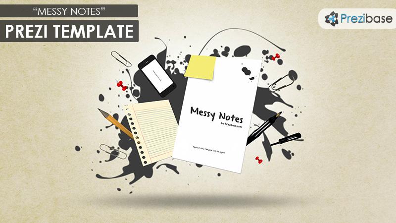 Messy notes prezi presentation template creatoz collection messy notes prezi presentation template maxwellsz