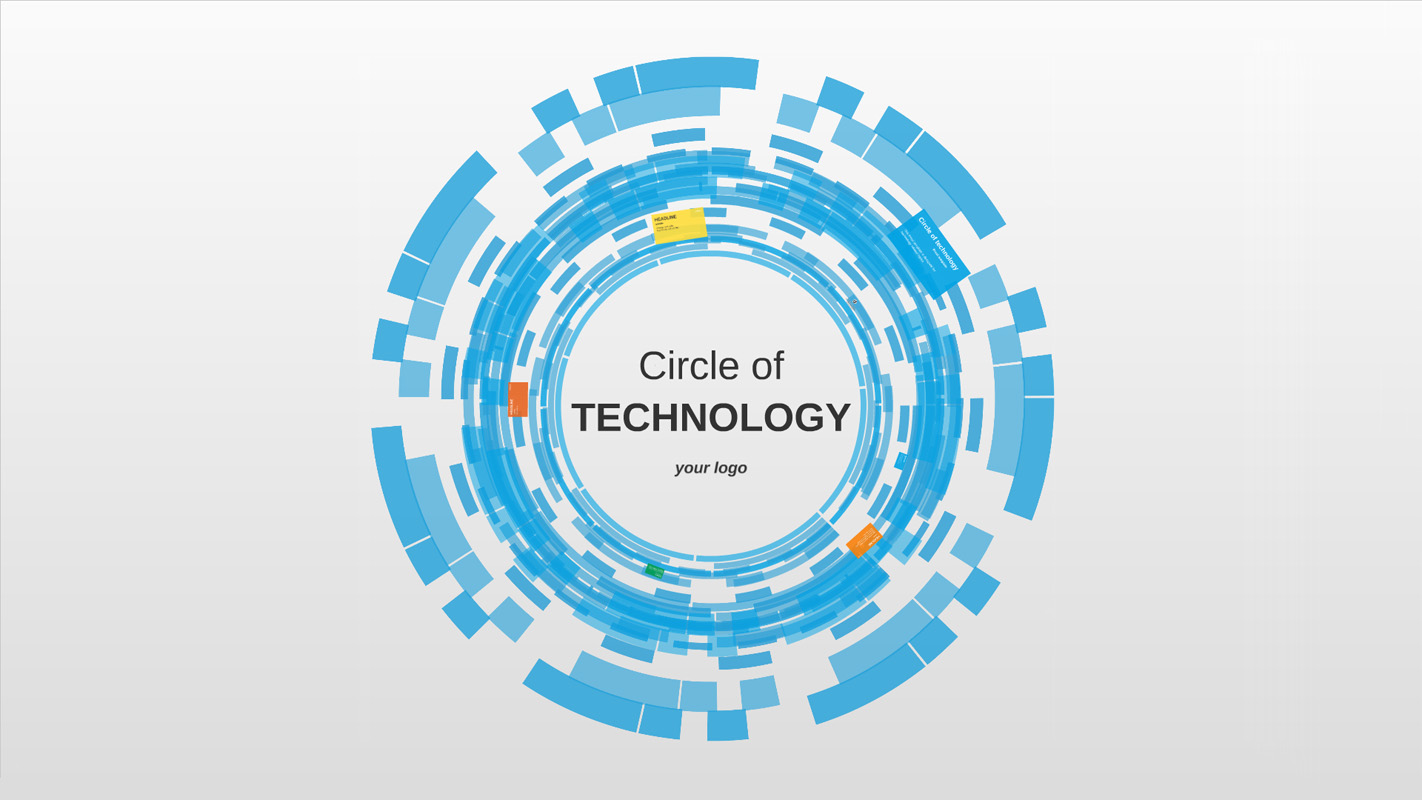 Circle of technology prezi presentation template for Lago design prezzi