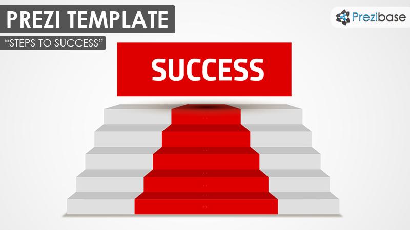 steps to success prezi presentation template creatoz collection