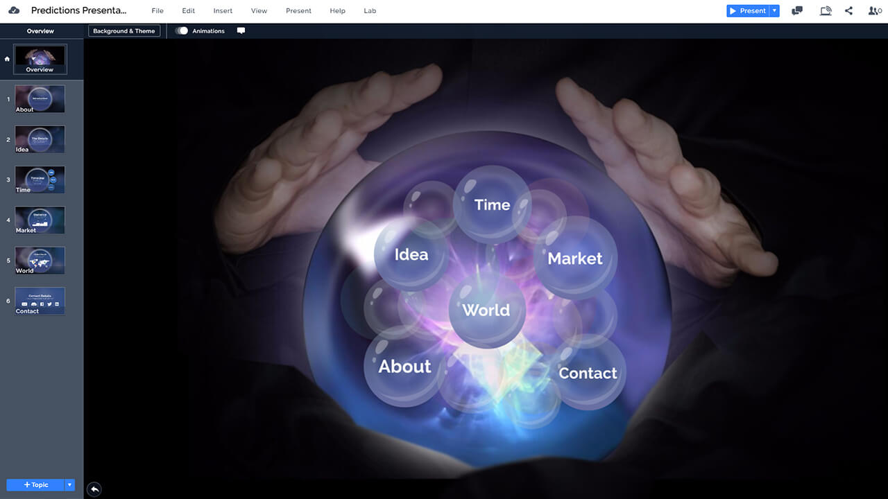 fortune-teller-magic-sphere-glass-ball-psychic-prezi-presentation-template
