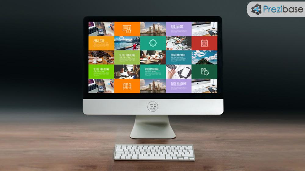 computer screen prezi presentation template creatoz collection