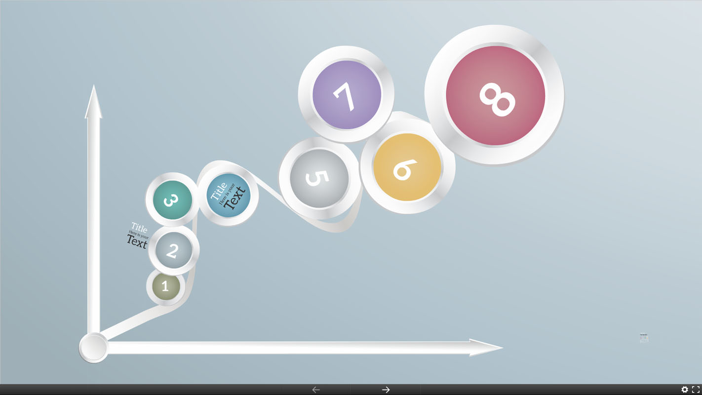 D glowing background and colorful numbered circles template