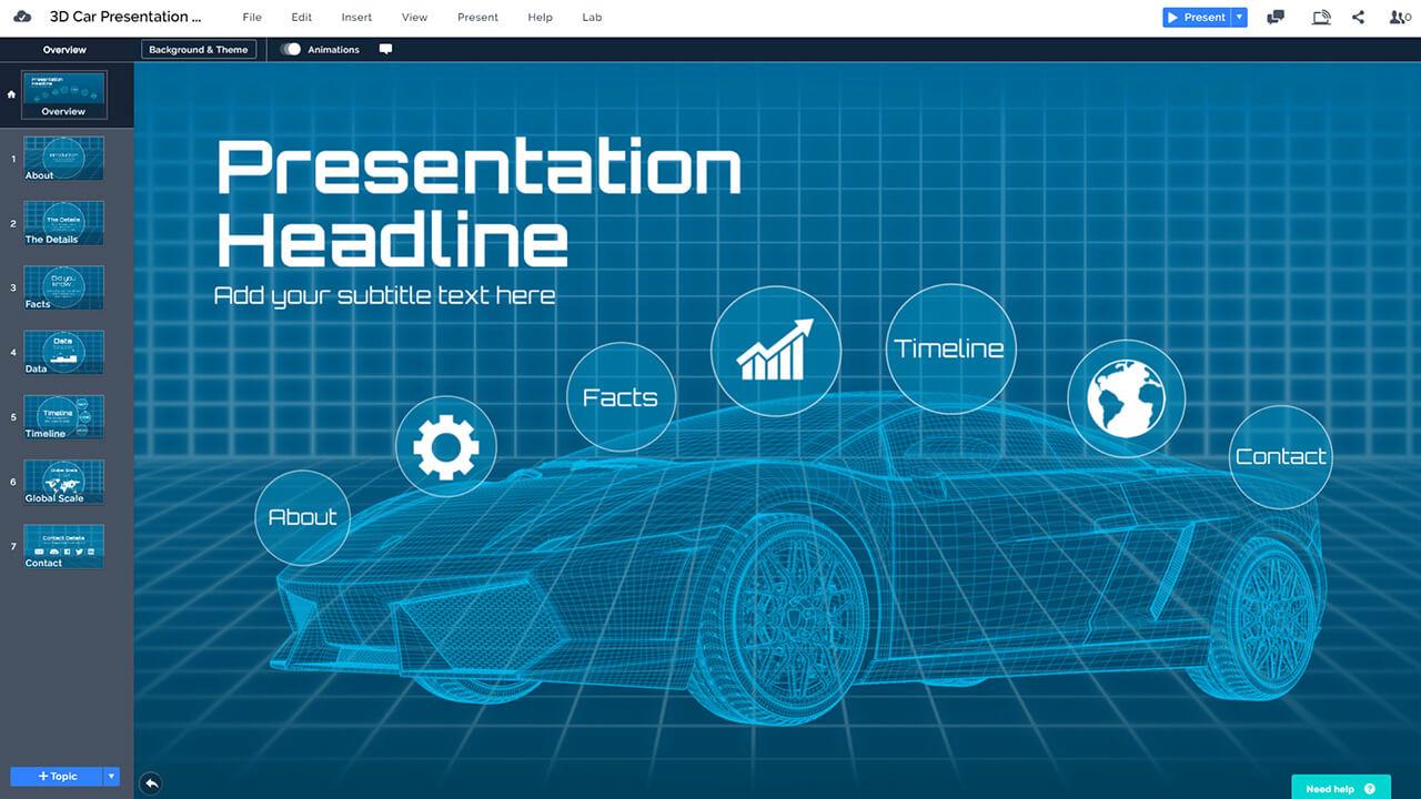 futuristic-3d-car-AI-self-driving-autonomous-vehicle-cars-wireframe-presentation-template-powerpoint-prezi