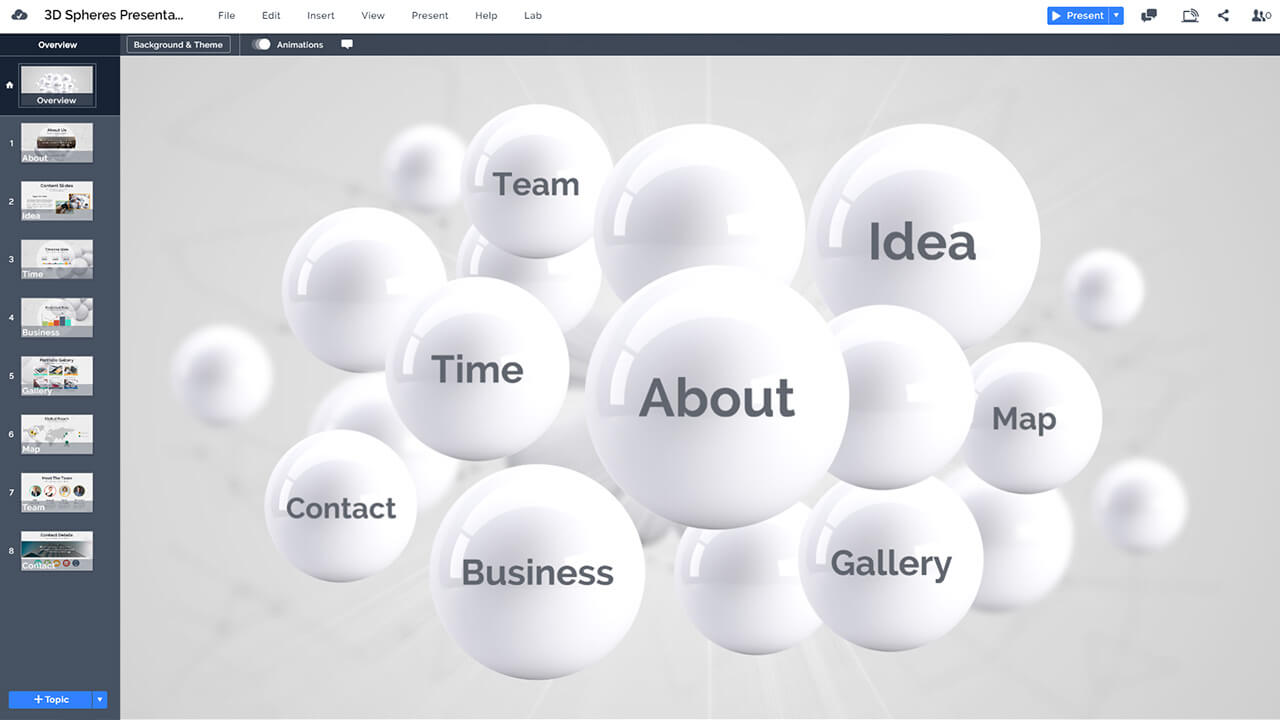 3D-spheres-abstract-balls-white-glossy-circles-prezi-presentation-template