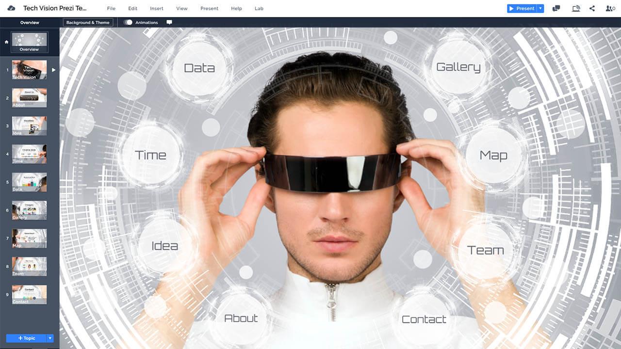 тек-видение-будущее-интерфейс-AR-VR_goggles-Oculus-Рифт-очки-Prezi-презентация-шаблон