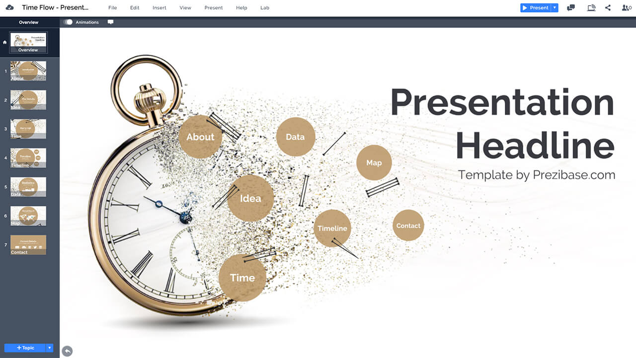 time-flow-particles-clock-sands-of-time-history-prezi-presentation-template