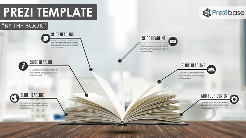 by the book prezi presentation template creatoz collection
