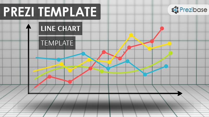 Line Chart Prezi Presentation Template Creatoz Collection