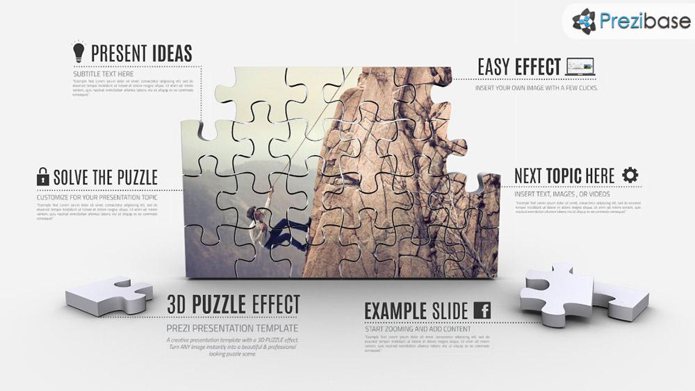 3d puzzle effect prezi presentation template creatoz collection