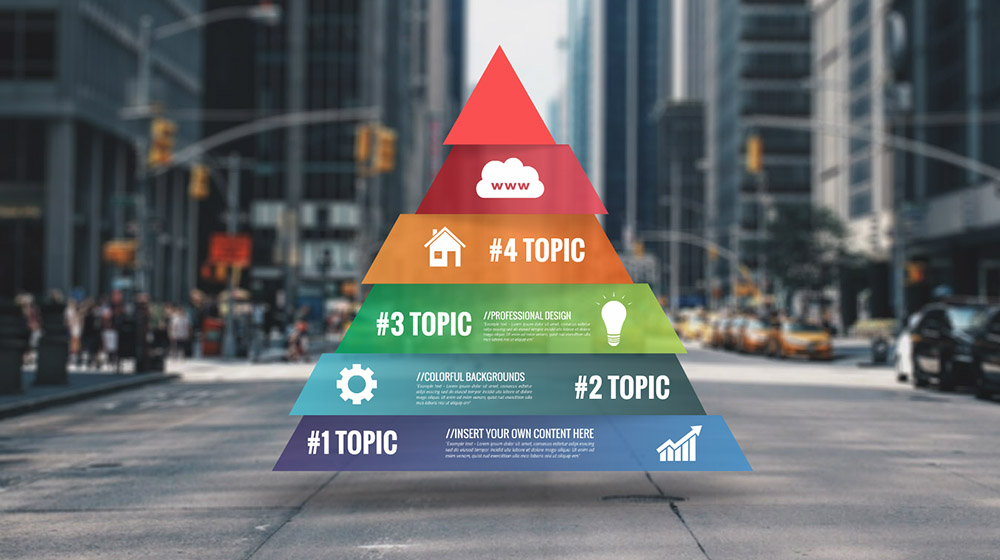 pyramid infographic – prezi presentation template     creatoz collection, Presentation Pyramid Template, Presentation templates