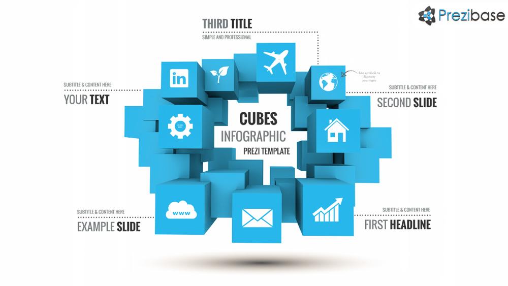 Cubes Infographic Prezi Presentation Template