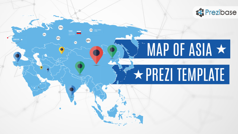 Map Of Asia Template.Asia Map Prezi Presentation Template Creatoz Collection
