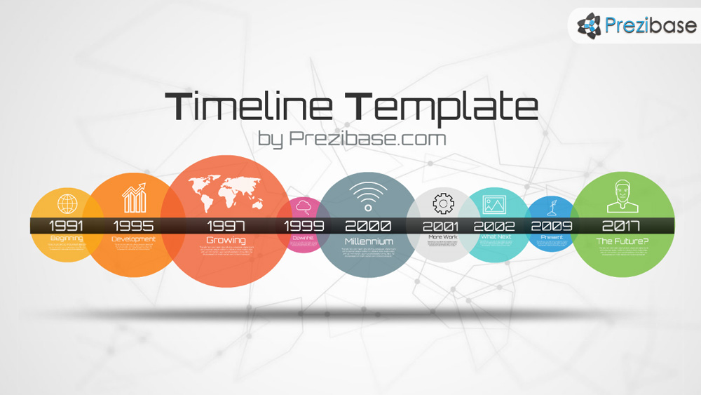 Timeline template prezi presentation template for How to download prezi templates