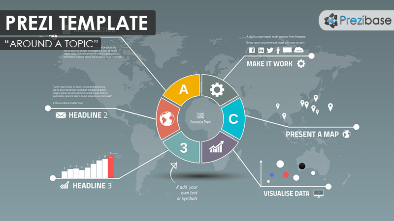 Around a topic prezi presentation template creatoz for How to download prezi templates