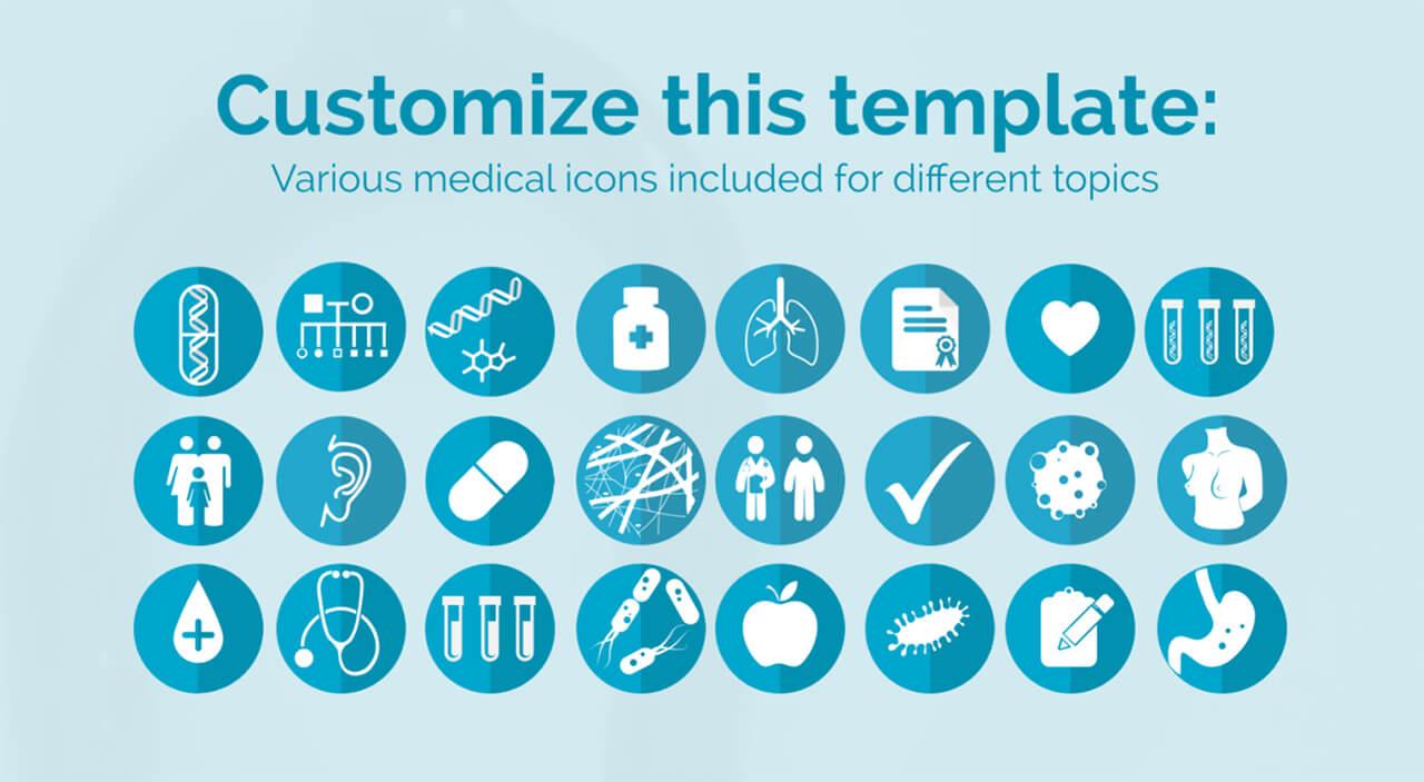 врачебно-иконки-пакет-включен-Prezi-шаблон