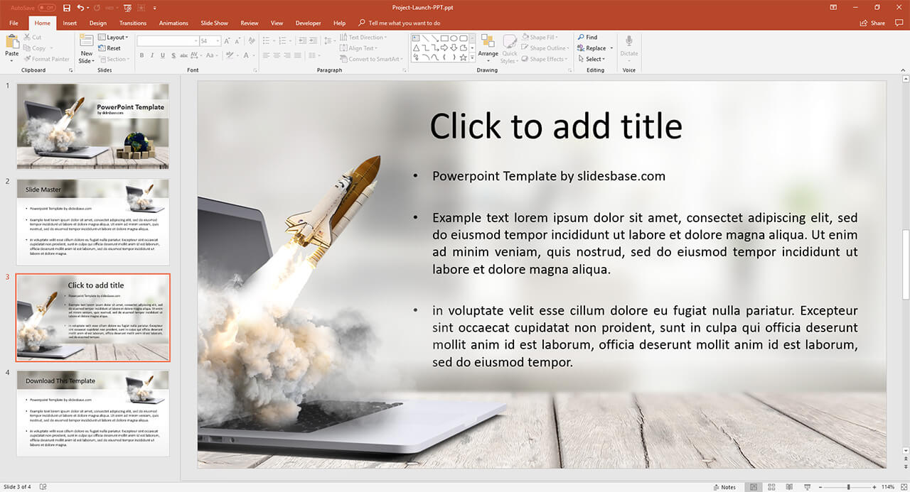 startup-business-launch-takeoff-rocket-from-screen-creative-business-powerpoint-ppt-template-download