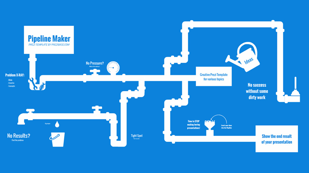 marketing pipeline template - pipeline maker prezi presentation template creatoz
