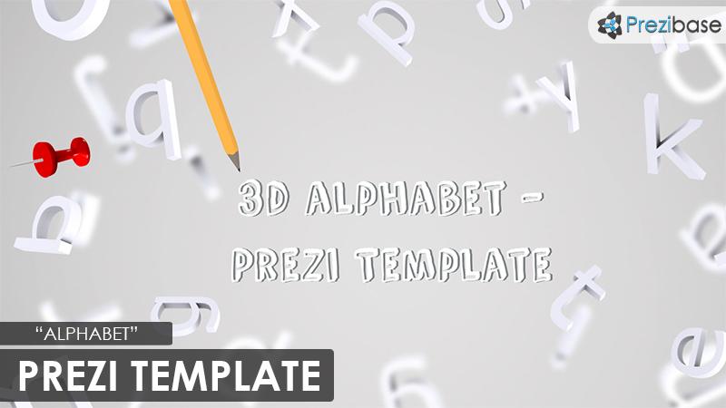 Alphabet Prezi Presentation Template Creatoz Collection - 3d letters template