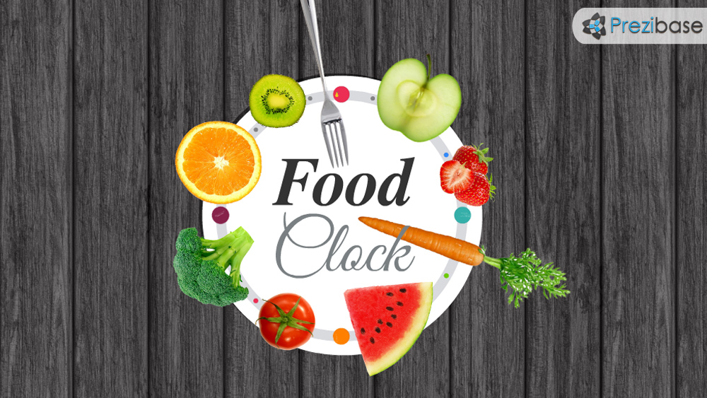 food clock prezi presentation template creatoz collection