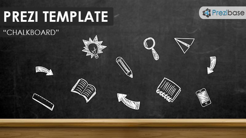 chalkboard prezi presentation template creatoz collection