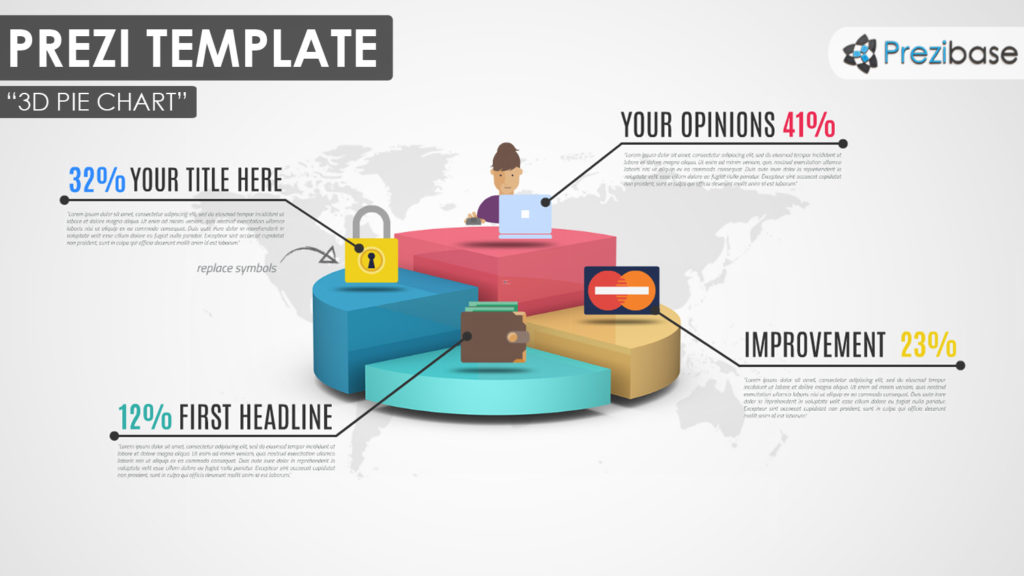 3D Pie – Prezi Presentation Template | | Creatoz collection