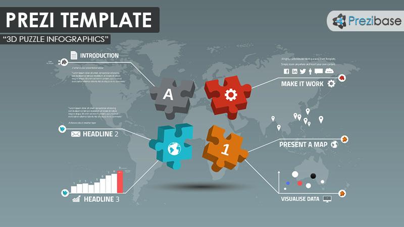 Prezi Template | 3d Puzzle Infographics Prezi Presentation Template