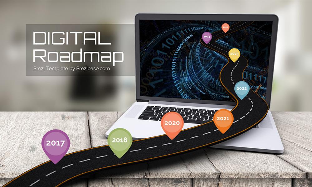 Digital Roadmap Prezi Next Presentation Template Creatoz Collection