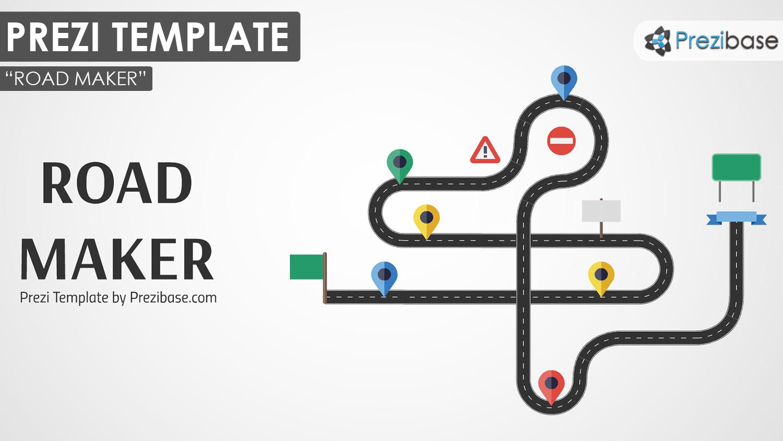 custom road maker prezi presentation template creatoz collection