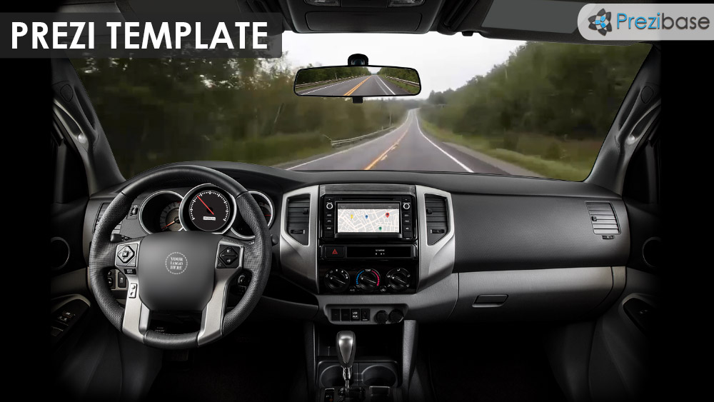 destination – prezi presentation template | | creatoz collection, Presentation Template Automobile, Presentation templates
