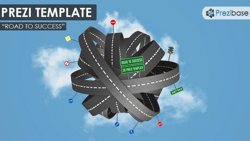 3d road to success prezi presentation template creatoz collection