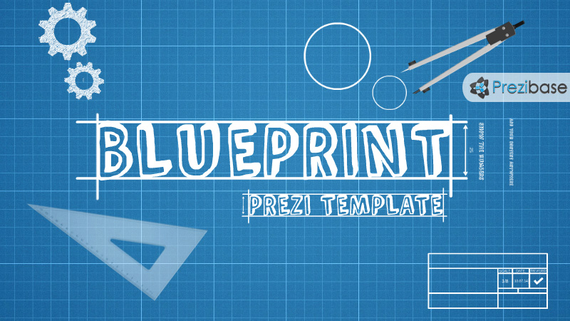 Blueprint prezi presentation template creatoz collection blueprint prezi presentation template malvernweather Choice Image
