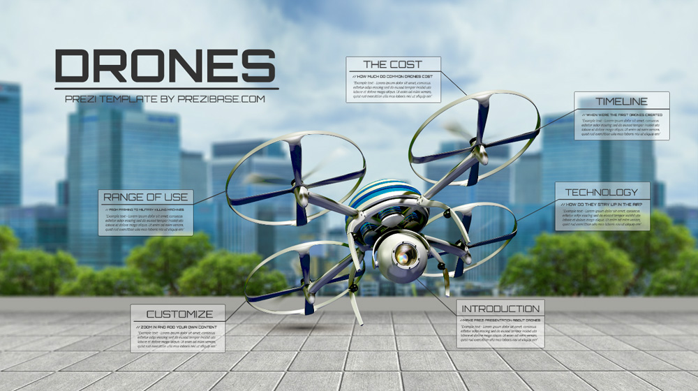 Drones – Prezi Presentation Template | | Creatoz collection