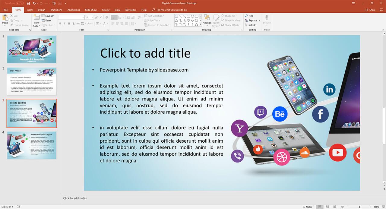 企業網絡上的社會 - 技術 - 蘋果的iPad,iPhone,iMac電腦,PowerPoint演示-PPT模板