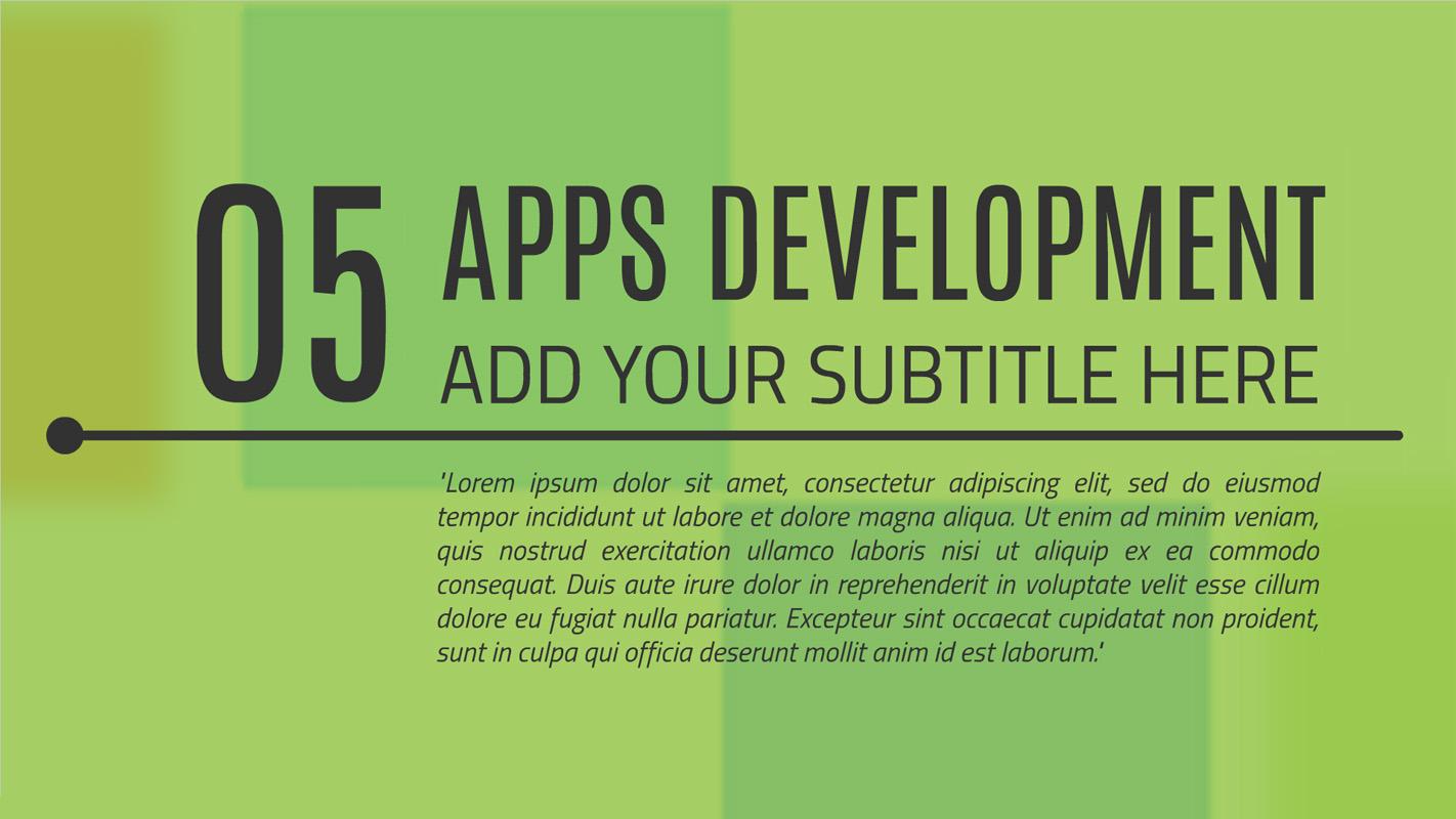 App development Presentation template