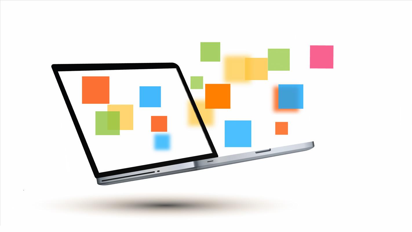 Business laptop Prezi presentation