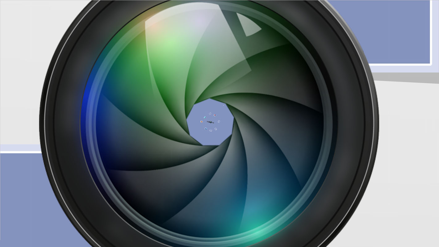 Camera photo lens and picture frames appearing with D photo frames background Photoshoot Prezi